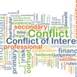 Conflict of interest background concept — Stock Photo #72544289