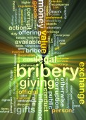 Bribery background concept glowing — Stock Photo