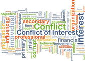 Conflict of interest background concept — Stockfoto