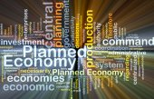 Planned economy background concept glowing — Stock Photo