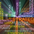 Strategy multilanguage wordcloud background concept glowing — Stock Photo #72566297