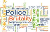 Police brutality background concept — Stock Photo