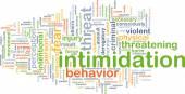 Intimidation background concept — Stock Photo