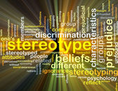 Stereotype background concept glowing — Stock Photo