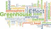 Greenhouse effect background concept — Stock Photo