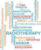 Radiotherapy multilanguage wordcloud background concept — Stock fotografie