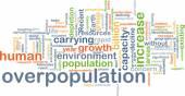 Overpopulation background concept — Stock Photo