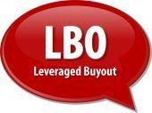 LBO acronym word speech bubble illustration — Stock Photo