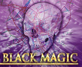 Black magic Abstract concept digital illustration — Stock Photo