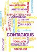 Contagious multilanguage wordcloud background concept — Stock Photo