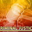 Criminal justice Abstract concept digital illustration — Stock Photo #73108693