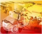Truck cargo Abstract concept digital illustration — Stock Photo