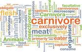 Carnivore background concept — Stock Photo