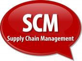 SCM acronym word speech bubble illustration — Stock Photo