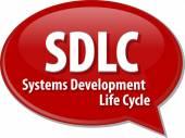 SDLC acronym word speech bubble illustration — Stock Photo