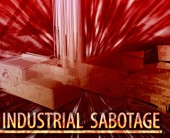 Industrial sabotage Abstract concept digital illustration — Stock Photo