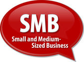 SMB acronym word speech bubble illustration — Stock Photo
