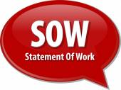 SOW acronym word speech bubble illustration — Stock Photo