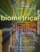 Biometrics background concept glowing — Stock Photo