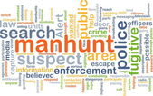 Manhunt background concept — Stock Photo