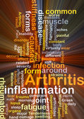 Arthritis background concept glowing — Stock Photo