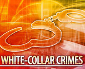White-collar crime Abstract concept digital illustration — Stock Photo