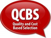 QCBS acronym word speech bubble illustration — Stock Photo