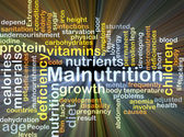 Malnutrition background concept glowing — Stock Photo