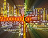 Vaccination background concept glowing — Stock Photo