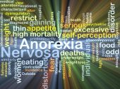 Anorexia nervosa background concept glowing — Stock Photo