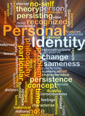 Personal identity background concept glowing — Stock Photo
