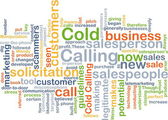 Cold calling background concept — Stock Photo