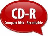 CD-R acronym definition speech bubble illustration — Stock Photo