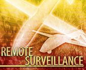 Remote surveillance Abstract concept digital illustration — Stock Photo