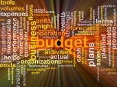 Budget background concept glowing — Stock Photo