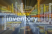 Inventory background concept glowing — Stock Photo