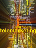 Telemarketing background concept glowing — Stock Photo