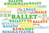 Ballet multilanguage wordcloud background concept — Stock Photo