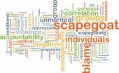 Scapegoat blame background concept — Stock Photo