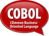 COBOL acronym definition speech bubble illustration — Stock Photo