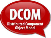 DCOM acronym definition speech bubble illustration — Stock Photo