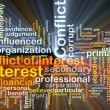Conflict of interest background concept glowing — Stock Photo #76508313
