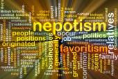 Nepotism background concept glowing — Stock Photo