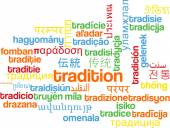 Tradition multilanguage wordcloud background concept — Stock Photo
