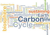 Carbon cycle background concept — Stock Photo