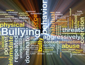 Bullying background concept glowing — Stock Photo
