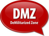 DMZ acronym definition speech bubble illustration — Stock Photo
