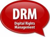 DRM acronym definition speech bubble illustration — Stock Photo