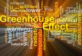Greenhouse effect background concept glowing — Stock Photo