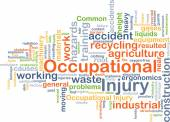 Occupational injury background concept — Stock Photo
